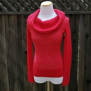 NWOT Candies Sparkly Red Knitted Sweater